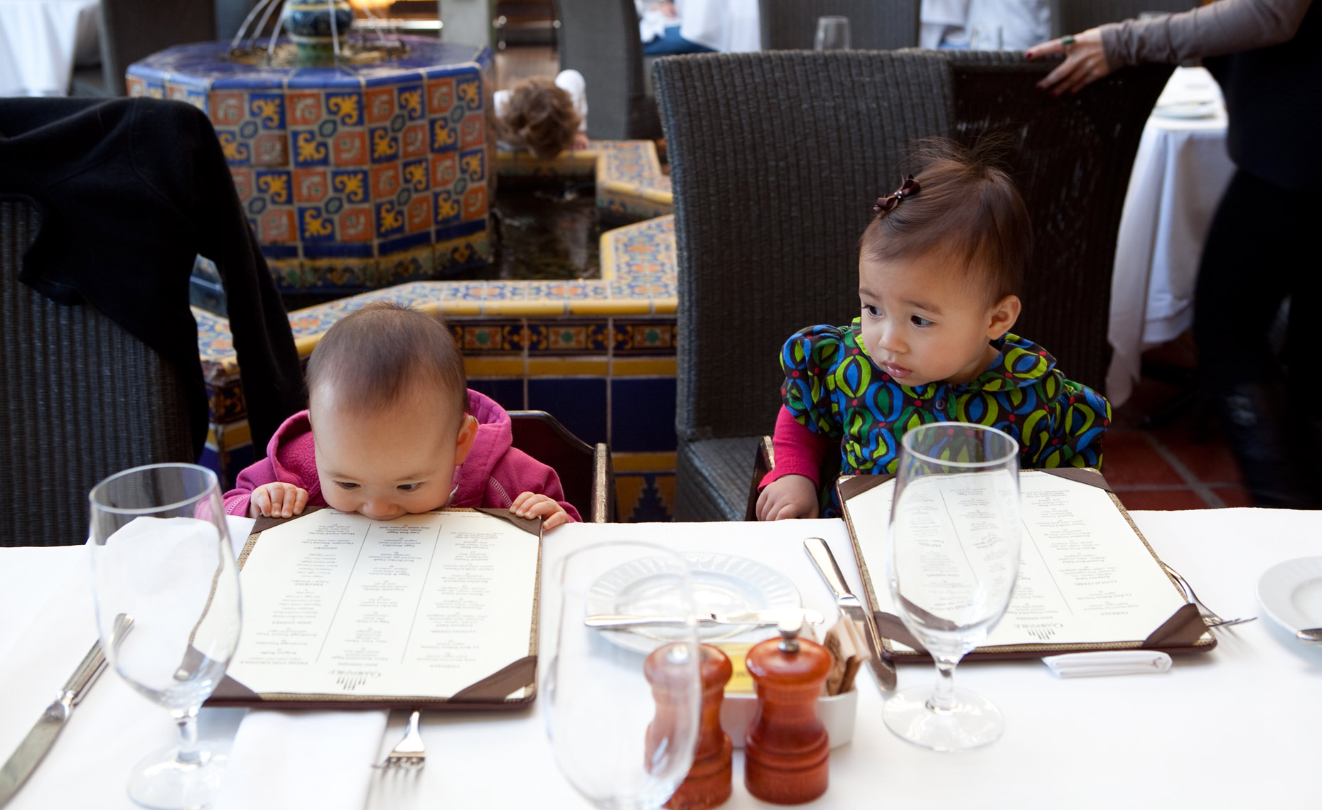 Baby Biting Menu at Fancy Restaurant